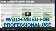 Watch Rotation Diet Software Video for Professional Use